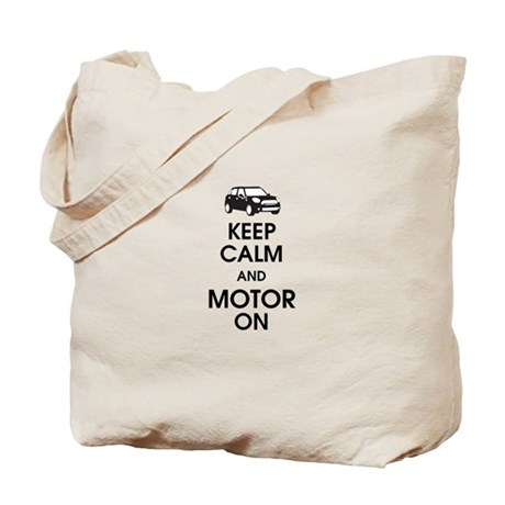 Keep Calm & Motor On Mini Tote Bag