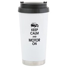 Keep Calm & Motor On Mini Travel Mug