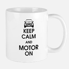 Keep Calm & Motor On Mini Mug