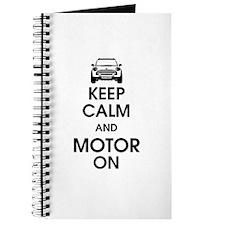 Keep Calm & Motor On Mini Journal