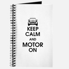 Keep Calm & Motor On Mini Journal