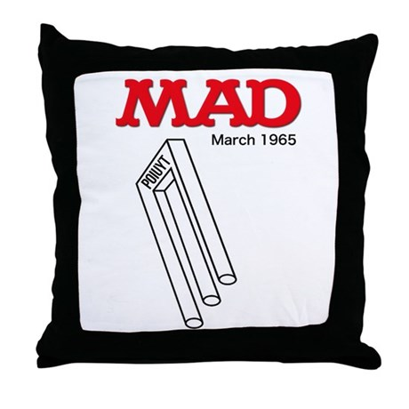 Mad Poiuyt Throw Pillow