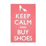 Keep Calm and Buy Shoes Mini Poster Print