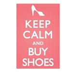 Keep Calm and Buy Shoes Postcards (Package of 8)
