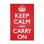 Keep Calm Carry On Mini Poster Print