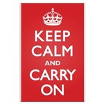 Keep Calm Carry On Large Poster