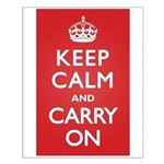 Keep Calm Carry On Small Poster