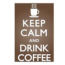 Keep Calm Drink Coffee Postcards (Package of 8)