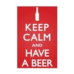 Keep Calm Have a Beer Mini Poster Print