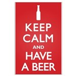 Keep Calm Have a Beer Large Poster
