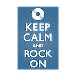 Keep Calm Rock On Mini Poster Print