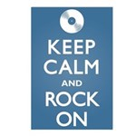 Keep Calm Rock On Postcards (Package of 8)
