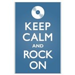 Keep Calm Rock On Large Poster