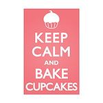 Keep Calm Cupcakes Mini Poster Print