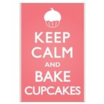 Keep Calm Cupcakes Large Poster