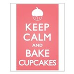 Keep Calm Cupcakes Small Poster
