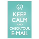 Keep Calm E-Mail Large Poster
