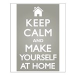 Keep Calm Home Small Poster