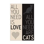 All You Need Are Cats Mini Poster Print