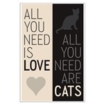 All You Need Are Cats Large Poster