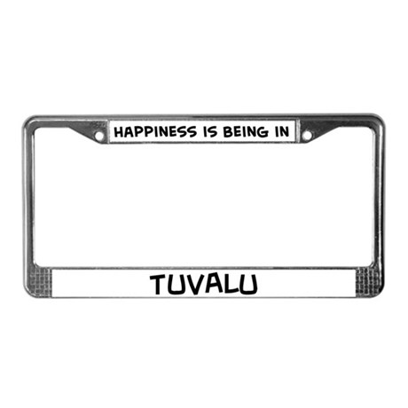 Happiness is Tuvalu License Plate Frame