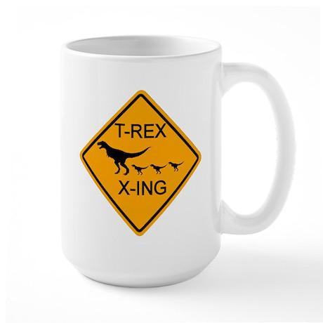 T-Rex Crossing Large Mug