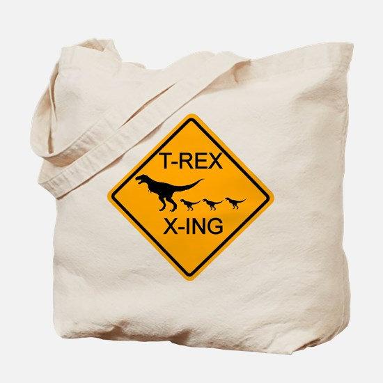 T-Rex Crossing Tote Bag