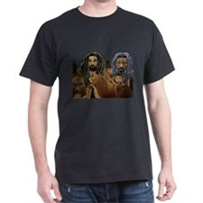 Pride of Rasta Lions  Black T-Shirt
