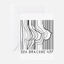 Bar Code Bra Code Greeting Cards (Pk of 20)