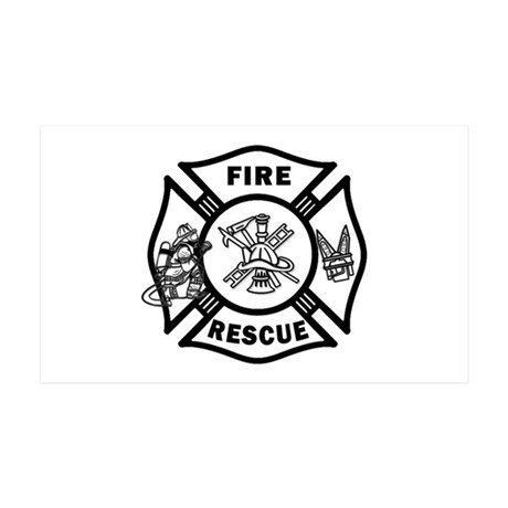 Fire Rescue 35x21 Wall Decal