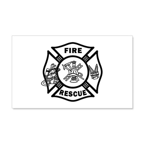Fire Rescue 20x12 Wall Decal