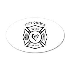Firefighters Wife 38.5 x 24.5 Oval Wall Peel