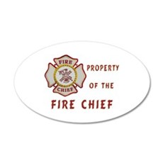 Fire Chief Property Wall Decal