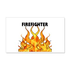 Firefighting Flames 22x14 Wall Peel