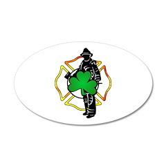 Irish Firefighter 22x14 Oval Wall Peel