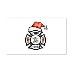 Firefighter Santa 20x12 Wall Decal