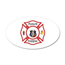 Future Firefighter Red Wall Decal