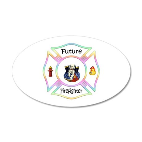 Future Firefighter Pastel 22x14 Oval Wall Peel