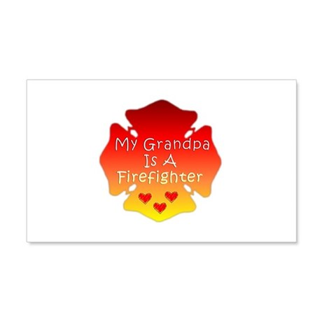 My Grandpa Is A Firefighter 22x14 Wall Peel