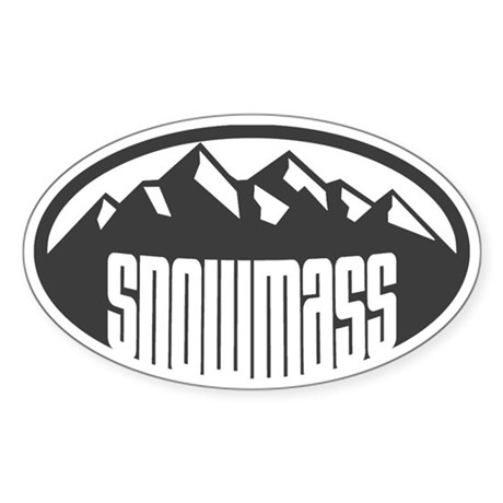 Snowmass Colorado Sticker (Oval)