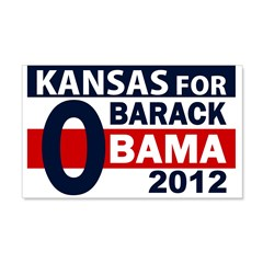 Kansas for Barack Obama 2012 Wall Peel Decal