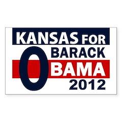 O: Kansas for Barack Obama bumper sticker