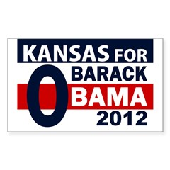 O: Kansas for Barack Obama bumper sticker