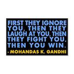 Then You Win Gandhi 22x14 Wall Peel
