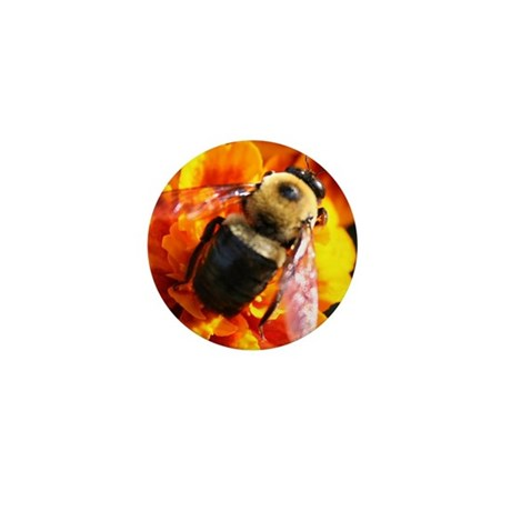 Bee in Marigold Mini Button (10 pack)