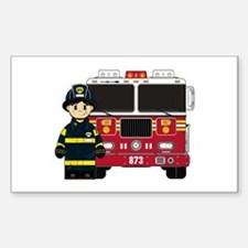 Firefighter and Fire Engine Decal