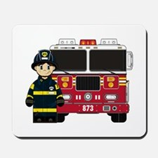 Firefighter and Fire Fighter Mousepad