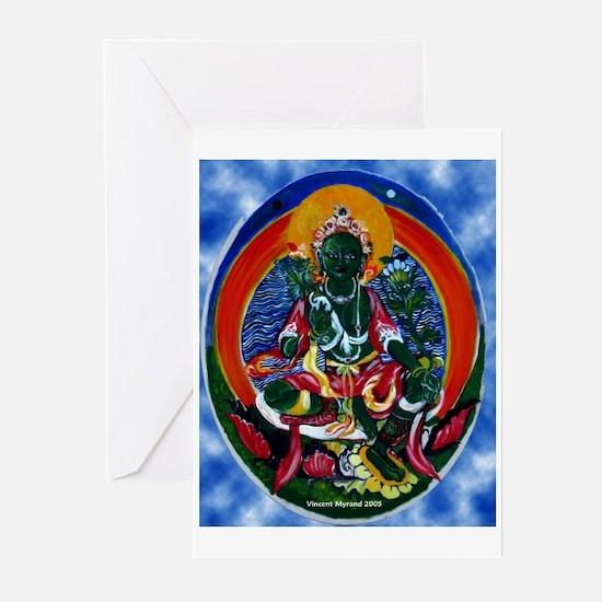 Green Tara Buddhist Greeting Cards (Pk of 10)