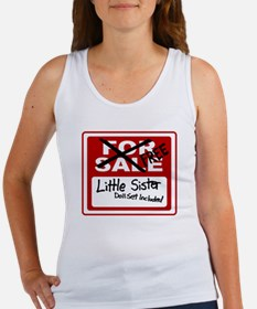 Little Sister For Sale Sign Women's Tank Top