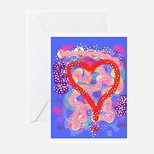 Ren G Art Crazy Heart Greeting Cards (Pk of 10)